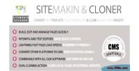 Sitemakin & cloner fast cloner & cms