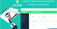 Spygate asset pass & visitor pass pro system management