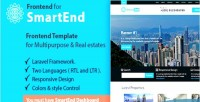 Template frontend for estate real multipurpose
