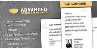 Testimonials advanced manager system