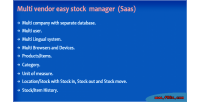 Vendor multi manager stock easy