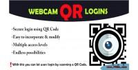 Qr webcam login system