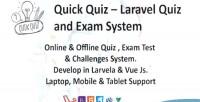 Quiz quick laravel system quiz exam and