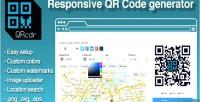 Responsive qrcdr generator code qr
