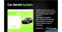 Rental car php laravel portal