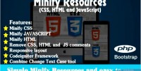 Resources minify css html javascript and