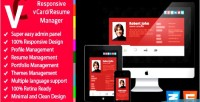 Responsive premium manager resume vcard