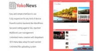 Responsive yokonews news blog & script cms portal
