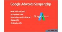 Adwords google php script scraper