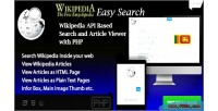 Easy wikipedia search api wikipedia script php based
