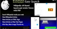 Easy wikipedia search api wikipedia script php based