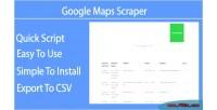 Maps google php script scraper