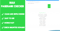 Pagerank bulk checker script