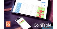Table coin full page cryptocurrency responsive market