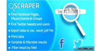 Twitter facebook business for scraper