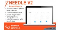 V2 needle search faceted laravel