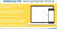 Advanced authorize.net payment terminal