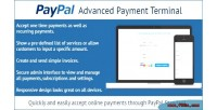 Advanced paypal payment terminal