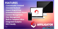 Affiliate affiligator system management webshop