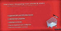 Php class shopping cart xml json