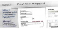 Payment paypal form panel admin with