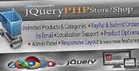 Php jquery store shop