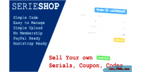 Simple serieshop serials store vouchers coupon