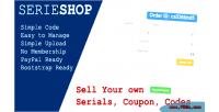 Simple serieshop serials store vouchers coupon