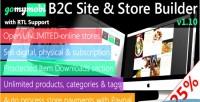 V1 gomymobibsb 10 b2c store site support rtl builder