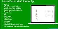 Smart laravel api restful music