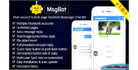 A msgbot fb inboxer add on account multi multi page facebook bot chat messenger