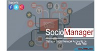 A sociomanager tool that places your all social accounts pilot auto on