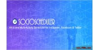 All socioscheduler in one multi scheduler activity for twitte facebook instagram