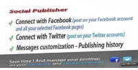 And facebook publisher social twitter