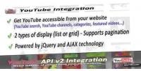 Api youtube ultimate integration