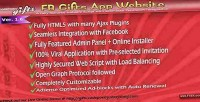 Gifts app website with html5 integration fb