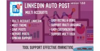 Auto linkedin accounts multi post