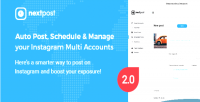 Auto nextpost post schedule manage instagram your multi script php accounts