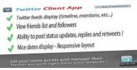 Client twitter app