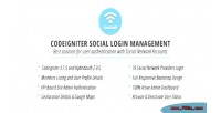 Codeigniter cisociall management login social
