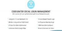 Codeigniter cisociall management login social