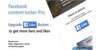 Content facebook locker pro