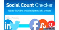 Count social checker