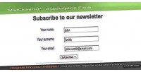 Customizable mailchimphp subscription form
