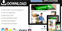 Download facebook responsive application