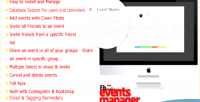 Events facebook manager application