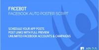 Facebook facebot script poster auto