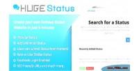 Facebook hugestatus script sharing status