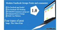 Facebook modern groups commenter & poster