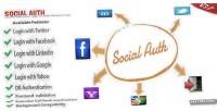 Facebook socialauth twitter login google linkedin